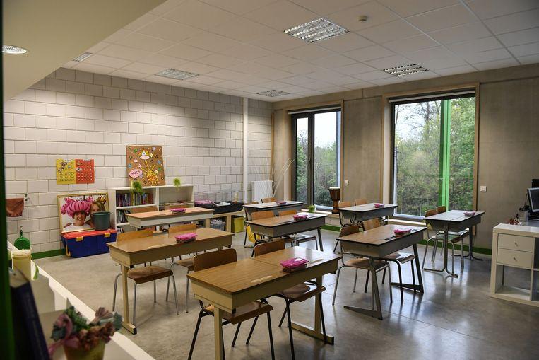 Eén van de nieuwe klaslokalen van De Schatkist.