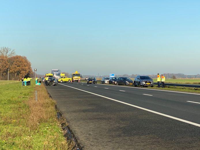Ongeval heeft plaatsgevonden tussen Strand Horst en Strand Nulde in de richting van Amersfoort.