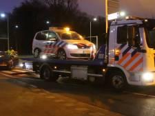 Botsing met politieauto op Benoordenhoutseweg