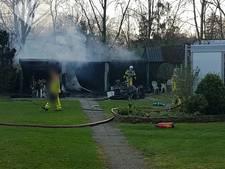 Lichtgewonde bij schuurbrand in Aalten