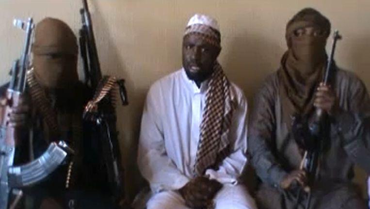 Ongedateerde foto van Boko Haram-leider Abubakar Shekau (m). Beeld afp