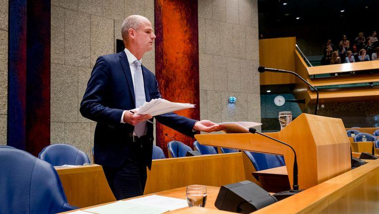Stef Blok, op deze foto nog als minister van Veiligheid en Justitie, maakt donderdag zijn debuut in de Tweede Kamer als minister van Buitenlandse Zaken. Beeld anp