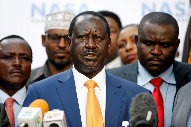 De Keniaanse oppositieleider Raila Odinga.  Beeld REUTERS