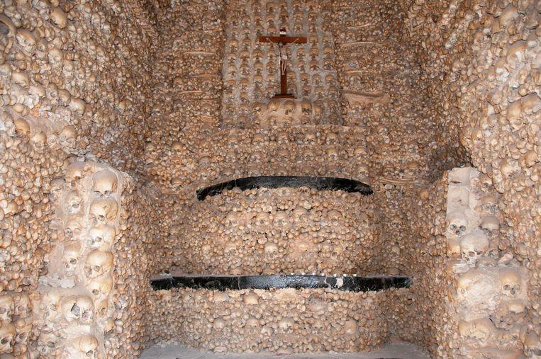 De 'Kapel van de beenderen' in Tsjechië.