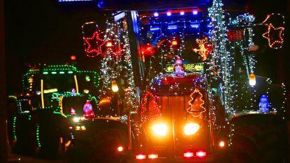 Feeërieke lichtstoet van tractoren trekt door straten van Affligem