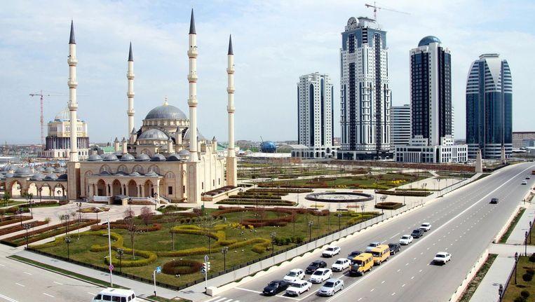 De Tsjetsjeense hoofdstad Grozny. Homorechten bestaan niet in Tsjetsjenië, want, zo zeggen de autoriteiten: er zijn geen homo's in onze republiek. Beeld getty