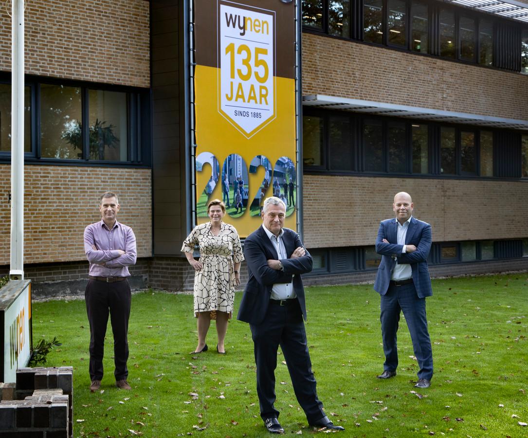 Erwin Schrijer, Veronique Lemm, Piet-Hein Maas en Bart Holleman  (van links naar rechts) vormen het directieteam van Wijnen.
