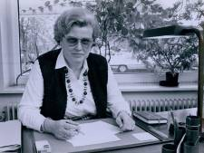 Lidy Scholten (1934-2019) hoefde niet te scoren, maar  ze lag goed als wethouder in Wierden