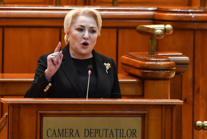 La Première ministre social-démocrate Viorica Dăncilă