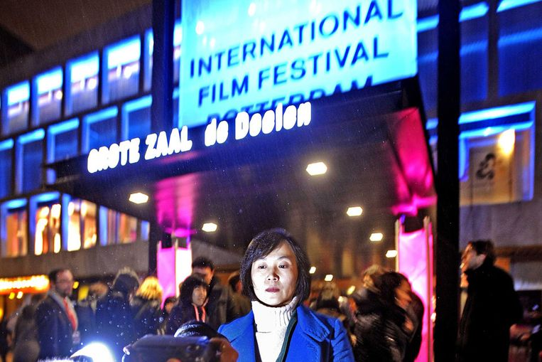 Regisseur Park Chan-ok van de openingsfilm van het Rotterdams Filmfestival, 'Paju' . (Raymond Rutting / de Volkskrant) Beeld