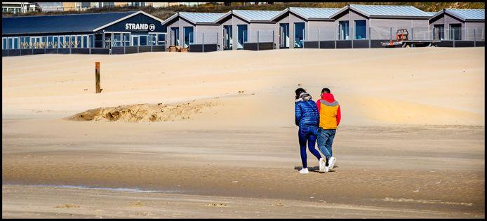 Rust op het strand van Zandvoort.