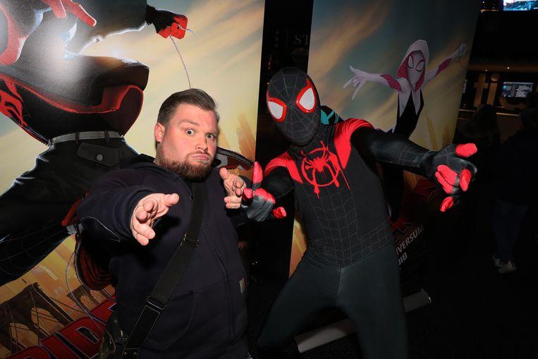 Stand-up comedian William Boeva mocht zich helemaal uitleven als varken Spider-Ham in deze film.