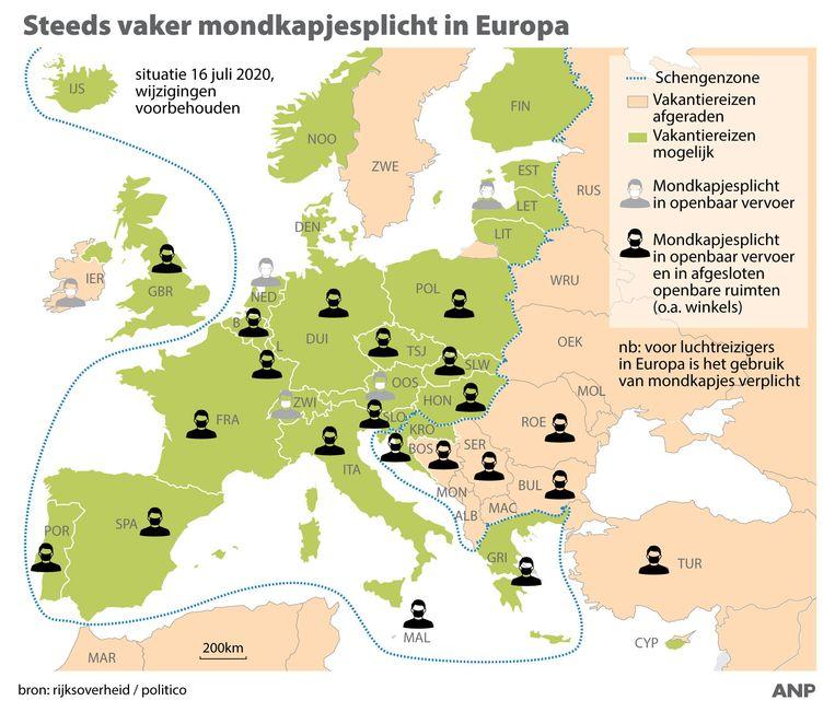 De situatie in Europa Beeld ANP Graphics