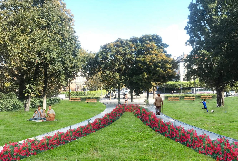 Le square du Souvenir, qui sépare les Etangs d'Ixelles, sera rendu exclusivement aux piétons et aux cyclistes pendant cet été. Un test qui pourrait bien s'avérer définitif.