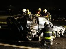 A59 bij Terheijden dicht na ongeval, twee gewonden naar ziekenhuis