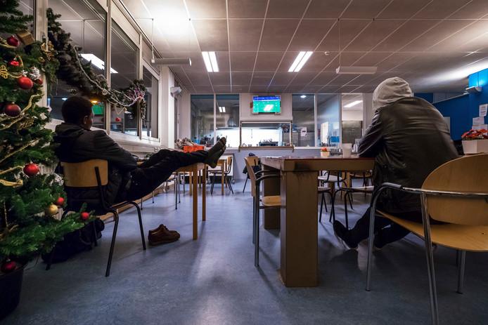 Archieffoto van daklozen in de winteropvang.