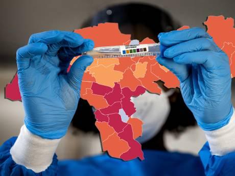 KAART | Besmettingspieken in Achterhoek, West Betuwe en Rheden, vier doden in regio: kijk hier hoe het zit in jouw gemeente