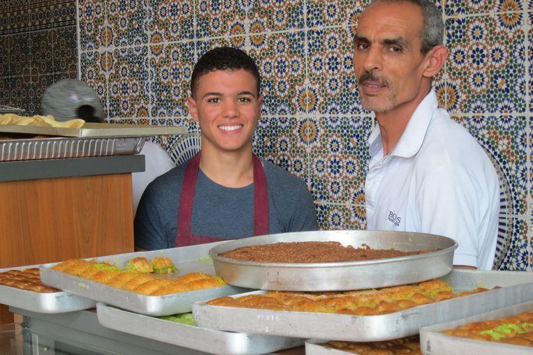 Bakker Abdullah met zoon Beeld -