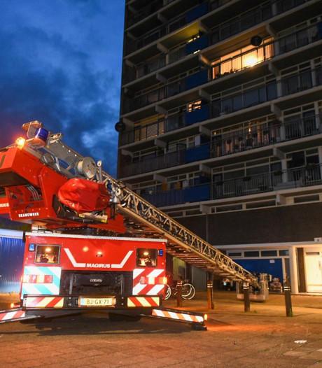 Brand in woning op zevende etage Alphense Diamantflat