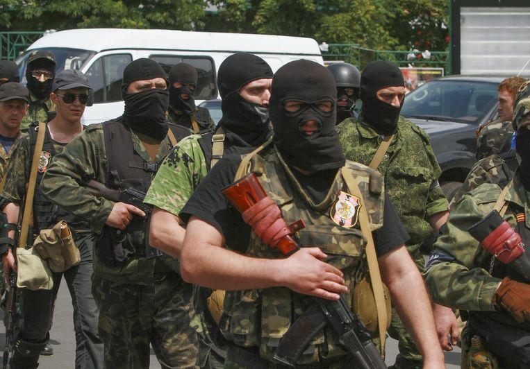 Pro-Russische militanten in Donetsk. Beeld epa