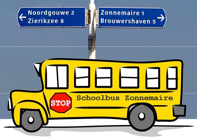 De basisschooljeugd van Zonnemaire wordt straks in elektrische busjes naar school gebracht.