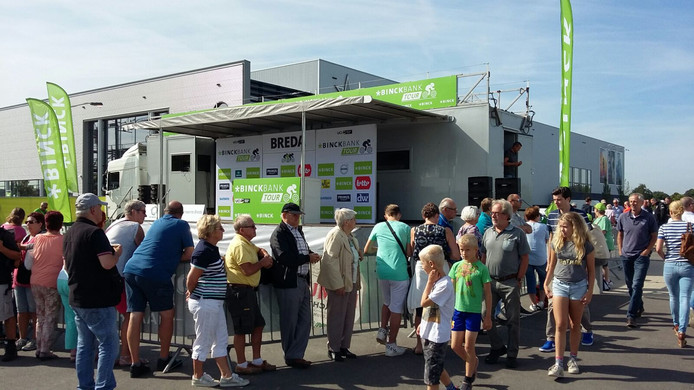 Opbouwen start van Binckbank Tour op Breepark Breda.