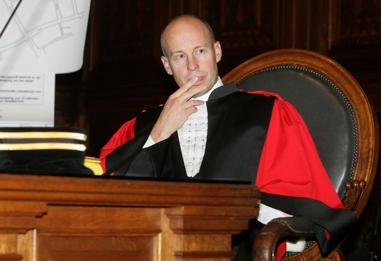 Franky De Keyzer als openbare aanklager tijdens het proces tegen Hans Van Themsche.