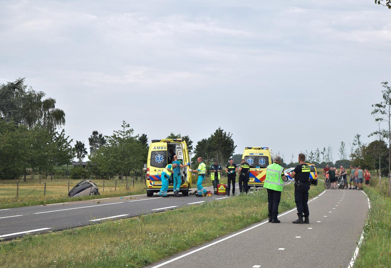 Er waren veel hulpdiensten vanwege het ongeluk in Varsselder.