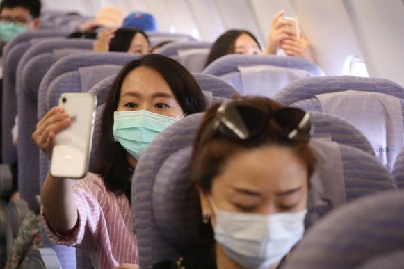 Passagiers konden uitgebreid selfies nemen van hun 'luchthavenbeleving'.
