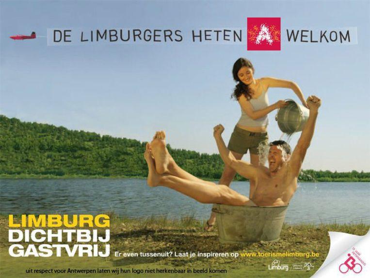 Op de Facebook-pagina van Toerisme Limburg kan je je eigen affiche delen met anderen. Deze affiche van Marthe Hulsmans benadert nog het meeste de originele affiche van Toerisme Limburg.