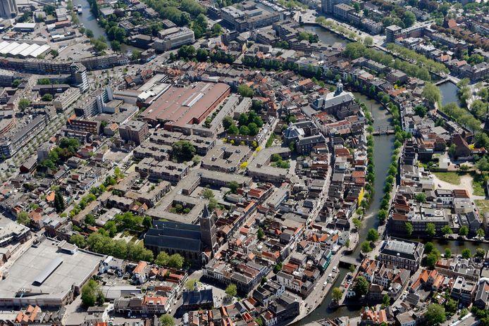 De binnenstad van Schiedam.