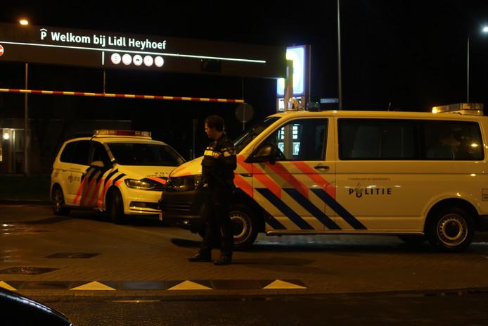 Brand bij de Lidl in Tilburg.