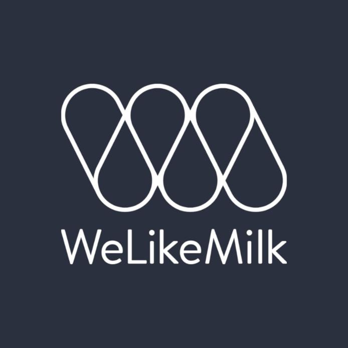 Het logo van WeLikeMilk uit Amsterdam.