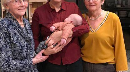 Tiende achterkleinkind bezorgt Marie-José (87) eerste viergeslacht