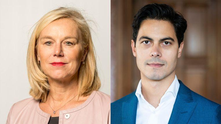 Sigrid Kaag en Rob Jetten. Beeld ANP/HH