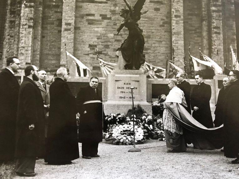Het vorige bezoek van een nuntius in Ninove, 70 jaar geleden.