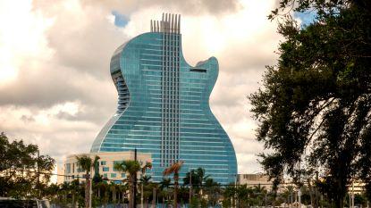 IN BEELD. 's Werelds eerste hotel in de vorm van een gitaar officieel geopend in Florida