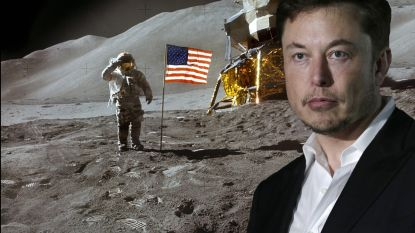 """Elon Musk: """"We kunnen over minder dan 2 jaar opnieuw landen op de maan"""""""