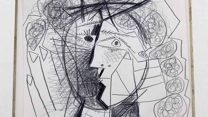 Tete de Femme, de gestolen tekening van Picasso.