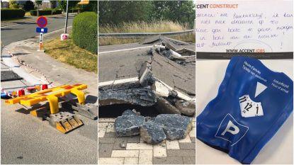 Gebroken wegen en gesmolten verkeersborden: zo gek deed het op warmste dag van het jaar