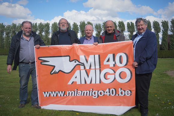 Enkele stuwende krachten achter Radio Mi Amigo vandaag (vlnr) Geert Vandijk, Walter Galle, Peter De Lathouwer, Gino De Simpelaere en Noël Cordier