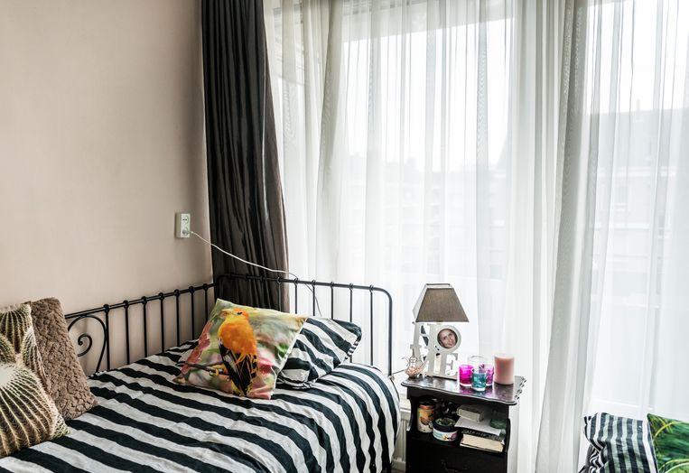 De flat in Amsterdam Nieuw-West, waar Chadia al vijf jaar niet meer is geweest.  Beeld Eva Faché