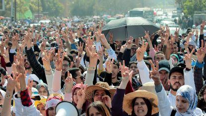 Marokkaanse politie zet waterkanon in tegen duizenden betogende leerkrachten