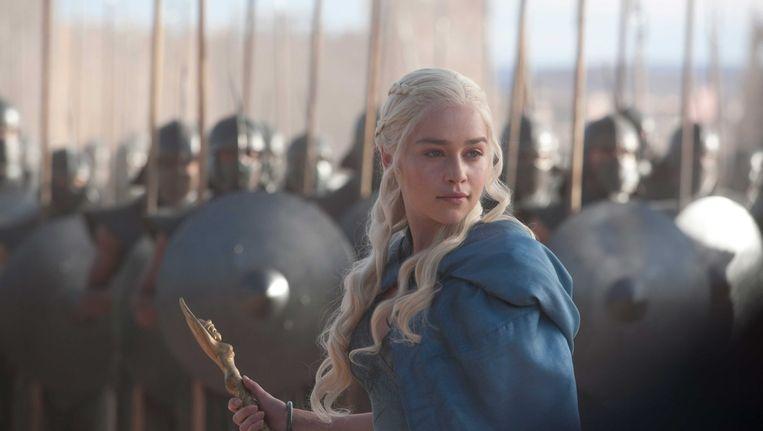 Emilia Clarke als Daenerys Stormgeboren in Game of Thrones. Beeld Jildau De Boer / HBO