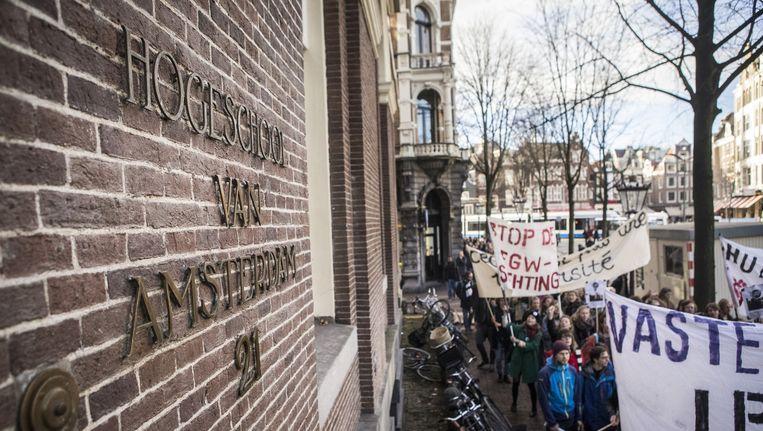 Demonstraties bij het Maagdenhuis, vorig jaar Beeld ANP