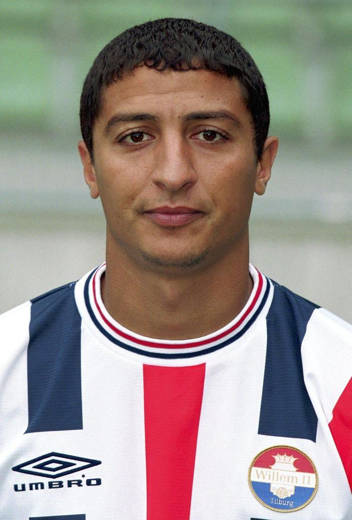 Yassine Abdellaoui, in het tenue van Willem II