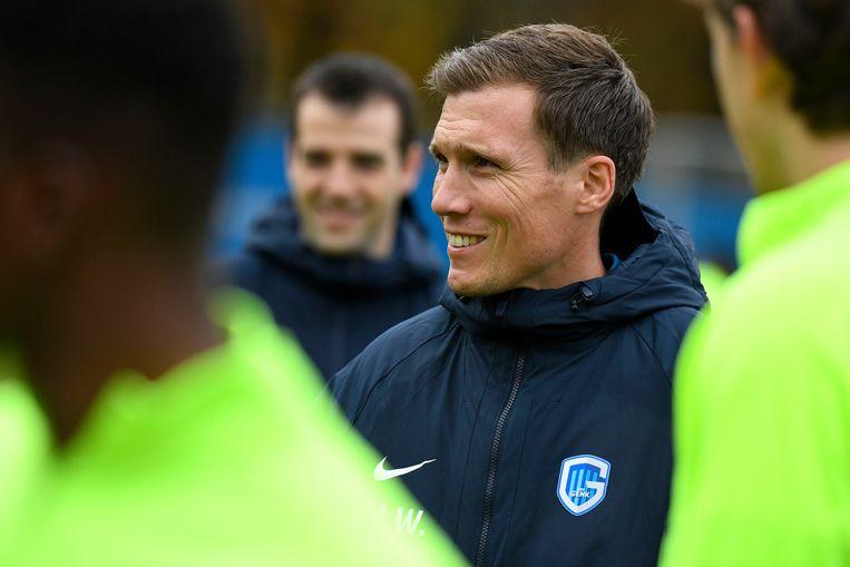 Hannes Wolf op de training de dag voor Genk - Salzburg.