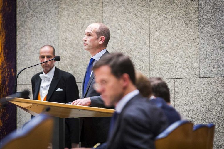 ChristenUnie-leider Gert-Jan Segers in de Tweede Kamer. Beeld anp