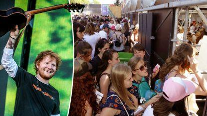Ed Sheeran was fenomenaal, maar op de wei was toch niet alles rozengeur en maneschijn