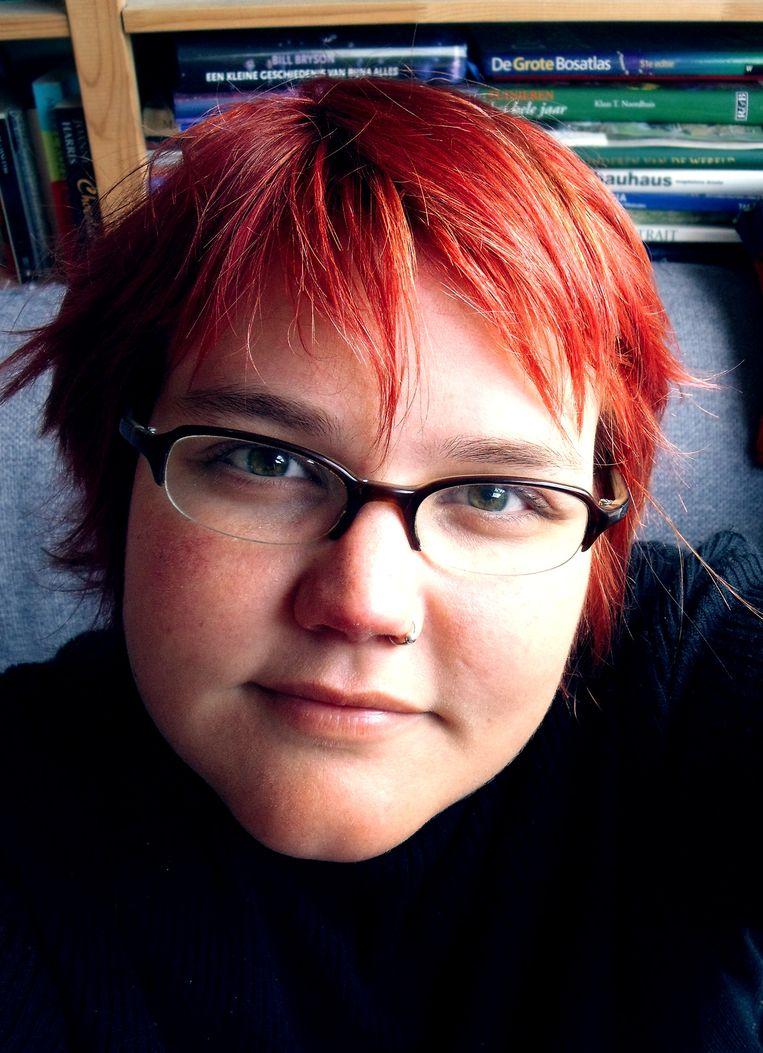 Asha ten Broeke in 2010. 'Bij mij wisselen jongens- en meisjesachtige periodes elkaar af, en voor dat 'jongetjeshaar' had ik destijds bewust gekozen.' Beeld